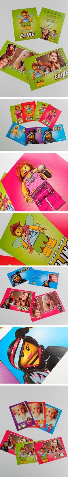 Communiekaartjes lego girls