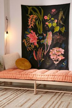 Hang a giant tapestry in your favorite theme or color scheme to add a huge statement at a low price. Get it from Urban Outfitters for $41.30.