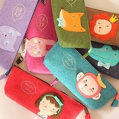 Pen Pencil Case Hello Geeks Cute Felt Pouch