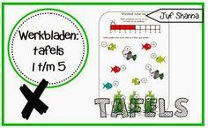Werkbladen tafels: tafels 1 t/m 5