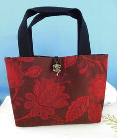 Placemat Purse  Maroon Jacquard by nitebyrd on Etsy, $15.00