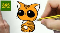 COMO DIBUJAR GATO KAWAII PASO A PASO - Dibujos kawaii faciles - How to d...