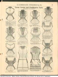 Corset Covers and Combination Suits from the Winter 1886-87 B. Altman & Co. Catalogue