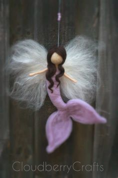 Mermaid Fairy Mobile Guardian AngelHanging by CloudBerryCrafts