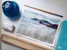 #watercolor #sea #nature #art #drawing #artist