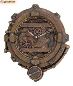 """Steampunk clock...for a little taste of the """"Game of Thrones"""" opening sequence, at home. See this website for better http://giudy-chan.deviantart.com/art/Little-Steampunk-Alarm-Clock-detail-2-336885997"""