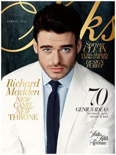 Richard Madden Charms in White Spring Fashions for Saks