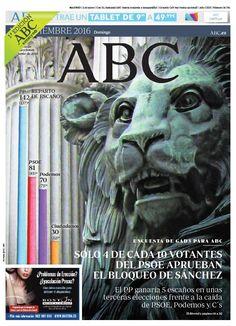 La Portada de ABC del domingo 11 de septiembre