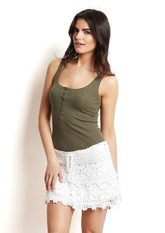 White lace skirt on sale from $102 for $49.99 for the next 21 hours. Nice Right? @Belinda Simmons