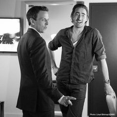 Lee Pace behind the scenes of his interview w/ Seth Meyers at Late Night with Seth Meyers (2014)