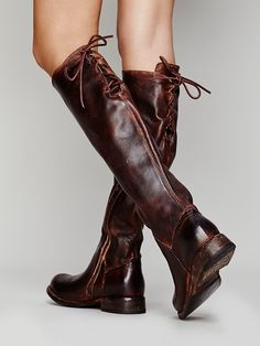 Bed Stu Manchester Tall Boot at Free People Clothing Boutique - Fashion Women Shoes Store - Fashion Women Shoes Store Tall Leather Boots, Tall Boots, Lace Up Boots, High Boots, Leather Shoes, Distressed Leather, Bootie Boots, Shoe Boots, Long Boots