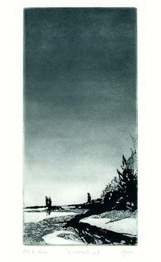 'A Moments Rest' (Etching) - Daniel Jasa