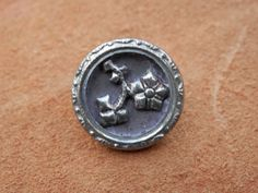Vintage Floral Metal Button by legacybuttons on Etsy