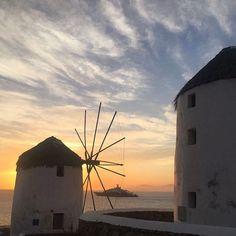 """218 """"Μου αρέσει!"""", 1 σχόλια - Konstantinos_Koukas (@konstantinos_koukas) στο Instagram: """"#nofilter #mykonos #mykonos2017"""" Greek Islands, Wind Turbine, Instagram Posts, Greek Isles"""