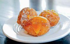 Buttermilk Doughnut Holes with Apple-Honey Caramel Sauce - from Craigie on Main #roshhashanah #dessert