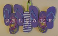 Check out this item in my Etsy shop https://www.etsy.com/listing/264011044/flip-flop-welcome-sign-flip-flop-wreath