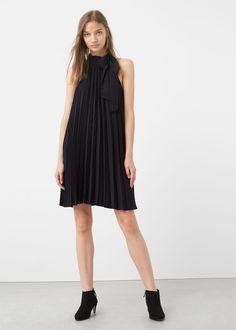 Pleated dress | MANGO