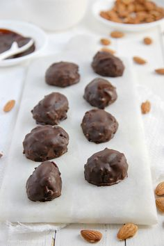 Homemade Almond Joys - Raw, Vegan, Gluten-free, refined sugar-free