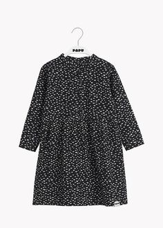 Would love this for Bea! Button Dress, Mandarin Collar, Cotton Dresses, Organic Cotton, High Neck Dress, Buttons, Mini, Long Sleeve, Sleeves