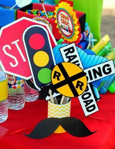 Photo booth props at a train birthday party! See more party planning ideas at… Thomas Birthday, Trains Birthday Party, 3rd Birthday Parties, 4th Birthday, Birthday Ideas, Car Party, Printables Organizational, Photo Booth Props, Party Printables