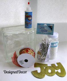 Decorating Glass Blocks! | Designed Decor
