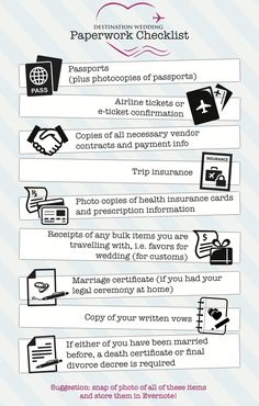 Paperwork Checklist for travel...maybe my fiance' will take a pic of his passport from now on after losing it in Honduras!