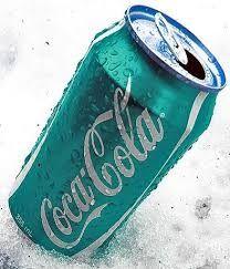 Coca Cola in blau…