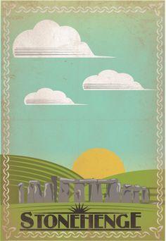 England Travel Poster Stonehenge travel poster