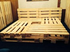 Pallet Bed Frame - 10 Brilliant Pallet Furniture Ideas | Pallet Furniture DIY