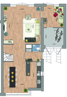 Classification of a two-barber shop with divided garage … - Modern Small Apartments, House Floor Plans, Interior Design Inspiration, Home And Living, Living Room Designs, Building A House, Beautiful Homes, Architecture Design, New Homes