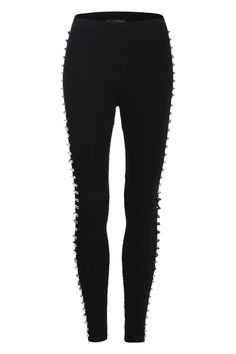 Rivets Detail Sides Leggings    $29.25  #Romwe
