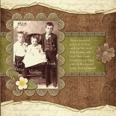 Family History page - Scrapbook.com