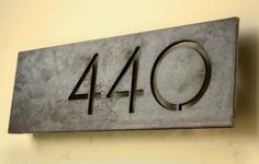 pin mounted address numbers | Modern steel house numbers