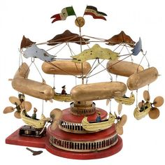 "Airship Carousel by ""Müller & Kadeder"", 1909 : Lot 663"