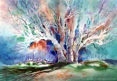 """Early Spring Majesty"" - Watercolor by Michael David Sorensen.   www.MichaelDavidSorensen.com"