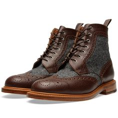 Mark McNairy Brougue Boot (Walnut Grain & Charcoal)