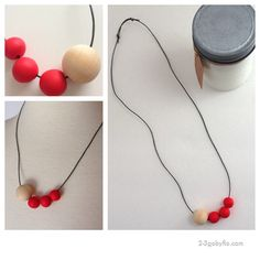 Poppy red necklace