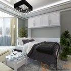 Horizontal Metropolitan Murphy Bed W/Top Hutch-Open