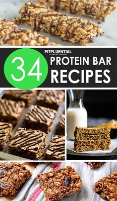 On the go? Need a post-workout snack? Whip up a batch of homemade protein bars to get through your busy days. We have 34 protein bar recipes!
