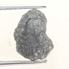 Antique 2.08 TCW  Natural Silver Gray Color Rough Diamond For Jewel