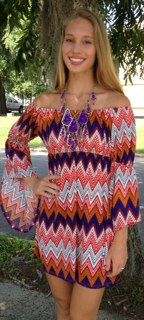 $52 <3 Pinned from Bella's Boutique <3 #Chevron #Style #fashion #Trendy #Clemson #Tigers #GameDay #Football #Orange #Purple