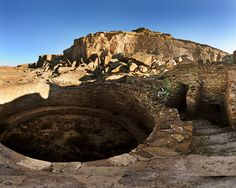 Chaco Canyon in New Mexico.  The Anasazi were my favorite culture to study in my non-western history classes.