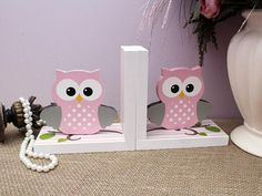 Baby Owl Bookends Woodland Nursery Decoration Baby Shower