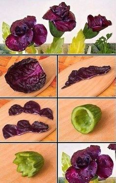 The photo - Food Carving Ideas Fruits Decoration, Vegetable Decoration, Veggie Art, Fruit And Vegetable Carving, Food Design, Creative Food Art, Food Garnishes, Garnishing, Food Carving