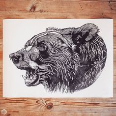 - SIDE BEAR - BEAR NO.22 - LIMITED EDITION A2 PRINT - EDITION OF 50