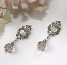 Vintage Style bridal earrings Marcasite by LavenderBlueBridal, £45.00