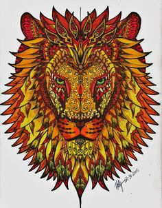 Drawing Cartoon Characters, Cartoon Drawings, Cute Drawings, Colouring Pages, Coloring Books, Tattoo Fixes, Lion Tattoo Design, Lion Painting, Art Worksheets