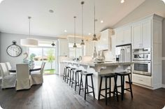 Love this kitchen and great room!