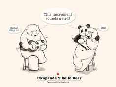 Ukupanda & Cello Bear   Panda and Polar Bear