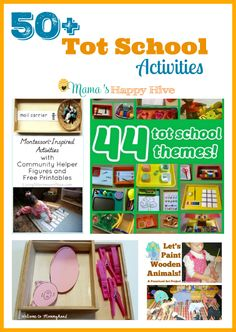 A fun collection of 50 plus tot school activities and theme ideas!